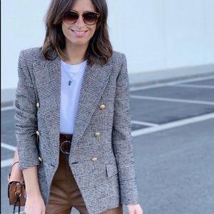 Zara plaid blazer